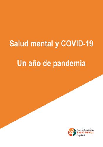 Salud Mental y COVID19. Un año de pandemia